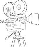 Κάμερα ταινιών Στοκ εικόνα με δικαίωμα ελεύθερης χρήσης