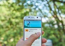Κάμερα app χαρτονιού Google Στοκ εικόνες με δικαίωμα ελεύθερης χρήσης