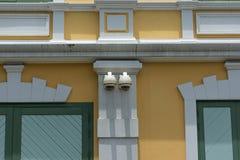 Κάμερα CCTV ασφάλειας στο κτήριο τοίχων Στοκ Εικόνες