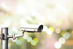 Κάμερα CCTV κινηματογραφήσεων σε πρώτο πλάνο Στοκ εικόνες με δικαίωμα ελεύθερης χρήσης