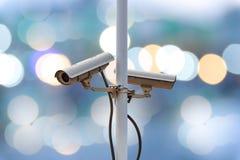 Κάμερα CCTV κινηματογραφήσεων σε πρώτο πλάνο Στοκ Φωτογραφίες