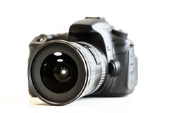 Κάμερα DSLR με το φακό Στοκ φωτογραφία με δικαίωμα ελεύθερης χρήσης
