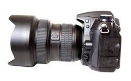 Κάμερα DSLR που απομονώνεται στο λευκό Στοκ Εικόνα