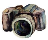 Κάμερα Watercolour Στοκ εικόνες με δικαίωμα ελεύθερης χρήσης