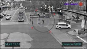 Κάμερες CCTV επιτήρησης οδών απόθεμα βίντεο
