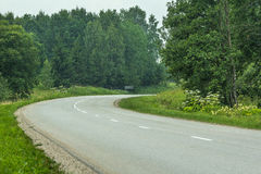 Κάμψη στην πλευρά οδικών χωρών Στοκ φωτογραφία με δικαίωμα ελεύθερης χρήσης