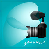 Κάνετε έναν κινηματογράφο, μια κάμερα και ένα μικρόφωνο Στοκ Εικόνα