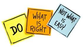 Κάνετε αυτό που είναι σωστή συμβουλές ή υπενθύμιση Στοκ φωτογραφία με δικαίωμα ελεύθερης χρήσης