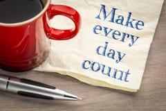 Κάνετε κάθε μέρα την αρίθμηση στοκ φωτογραφία με δικαίωμα ελεύθερης χρήσης