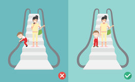 Κάνετε και φορέστε την ασφάλεια κυλιόμενων σκαλών ` τ, απεικόνιση ελεύθερη απεικόνιση δικαιώματος