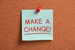 Κάνετε μια αλλαγή! Στοκ εικόνες με δικαίωμα ελεύθερης χρήσης