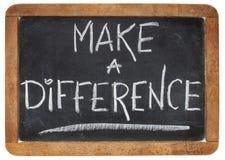 Κάνετε μια διαφορά Στοκ Φωτογραφίες