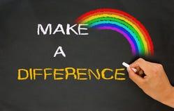 Κάνετε μια διαφορά στοκ φωτογραφία