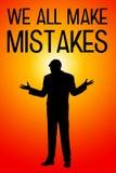 Κάνετε τα λάθη Στοκ φωτογραφία με δικαίωμα ελεύθερης χρήσης