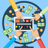 Κάνετε τα χρήματα από Διαδίκτυο Στοκ Εικόνες
