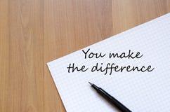 Κάνετε την έννοια διαφοράς στοκ εικόνες