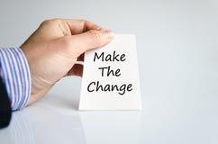 Κάνετε την έννοια κειμένων αλλαγής Στοκ φωτογραφία με δικαίωμα ελεύθερης χρήσης
