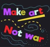 Κάνετε την αφίσα σημαδιών πολεμικού αποσπάσματος τέχνης όχι ελεύθερη απεικόνιση δικαιώματος