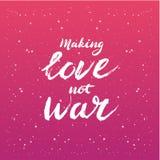 Κάνετε την πολεμική εγγραφή αγάπης όχι - κάρτα ή αφίσα καλλιγραφίας γραφικό στοιχείο σχεδίου ελεύθερη απεικόνιση δικαιώματος