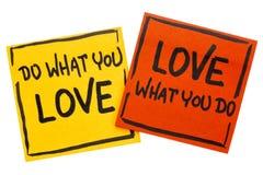Κάνετε τι αγαπάτε - συμβουλές ή υπενθύμιση Στοκ φωτογραφίες με δικαίωμα ελεύθερης χρήσης