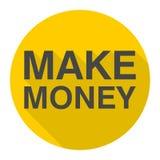 Κάνετε το εικονίδιο χρημάτων με τη μακριά σκιά Στοκ Εικόνες