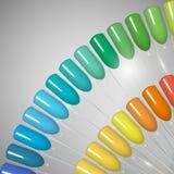 κάνετε το καρφί να γυαλίσει τα προϊόντα επάνω Στιλβωτική ουσία πηκτωμάτων Στιλβωτική ουσία καρφιών στα διαφορετικά χρώματα Στοκ φωτογραφία με δικαίωμα ελεύθερης χρήσης