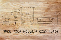 Κάνετε το σπίτι σας μια άνετη θέση Στοκ Εικόνα