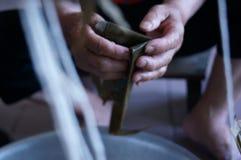 Κάνετε το zongzi στοκ φωτογραφία
