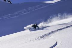 Κάνοντας σκι οι τέσσερις κοιλάδες σε Verbier Ελβετία στοκ εικόνες με δικαίωμα ελεύθερης χρήσης