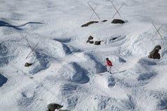 Κάνοντας σκι συριστήρας Π.Χ. Καναδάς στοκ εικόνες