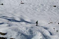 Κάνοντας σκι συριστήρας Π.Χ. Καναδάς κλίσεων στοκ φωτογραφίες