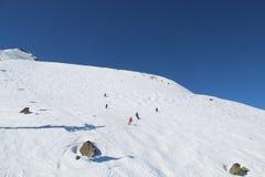 Κάνοντας σκι συριστήρας Π.Χ. Καναδάς κλίσεων στοκ εικόνα με δικαίωμα ελεύθερης χρήσης