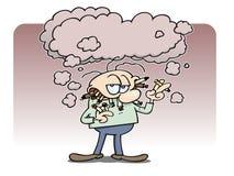 κάπνισμα ατόμων αλυσίδων Στοκ Εικόνες