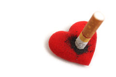 Κάπνισμα καταστρέφοντας την υγεία Στοκ Εικόνες