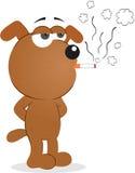 Κάπνισμα σκυλιών Στοκ εικόνα με δικαίωμα ελεύθερης χρήσης