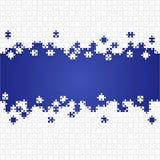 Κάποιο άσπρο μπλε κομματιών γρίφων - διανυσματικό τορνευτικό πριόνι Στοκ Φωτογραφίες