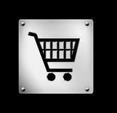 Κάρρο αγορών, εικονίδιο, κουμπί Ιστού Στοκ Φωτογραφίες
