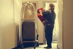 Κάρρο αποσκευών ξενοδοχείων στοκ εικόνες