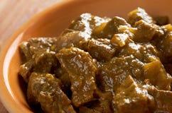 Κάρρυ βόειου κρέατος με το ρύζι στοκ εικόνα