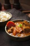 Κάρρυ και ρύζι κοτόπουλου Στοκ φωτογραφία με δικαίωμα ελεύθερης χρήσης