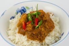 Κάρρυ κοτόπουλου με Basmati το ρύζι Στοκ φωτογραφία με δικαίωμα ελεύθερης χρήσης