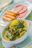 κάρρυ πράσινος Ταϊλανδός κοτόπουλου Στοκ εικόνα με δικαίωμα ελεύθερης χρήσης