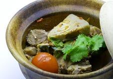 Κάρρυ Jackfruit μωρών με Stew χοιρινού κρέατος Στοκ Εικόνες