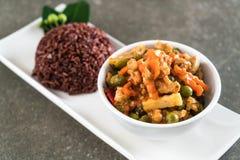 Κάρρυ Panaeng με το ρύζι χοιρινού κρέατος και μούρων Στοκ εικόνες με δικαίωμα ελεύθερης χρήσης