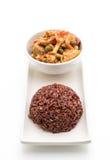 Κάρρυ Panaeng με το ρύζι χοιρινού κρέατος και μούρων Στοκ Εικόνες