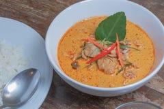 Κάρρυ Panang με το χοιρινό κρέας Στοκ Φωτογραφίες