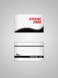 Κάρτα έκπτωσης Στοκ Εικόνες