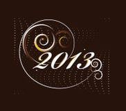 κάρτα έτους του 2013 νέα Στοκ εικόνες με δικαίωμα ελεύθερης χρήσης