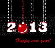 κάρτα έτους του 2013 νέα Στοκ Εικόνες