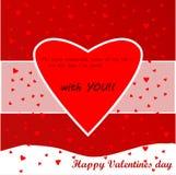 Κάρτα αγάπης ημέρας βαλεντίνων στοκ εικόνες με δικαίωμα ελεύθερης χρήσης